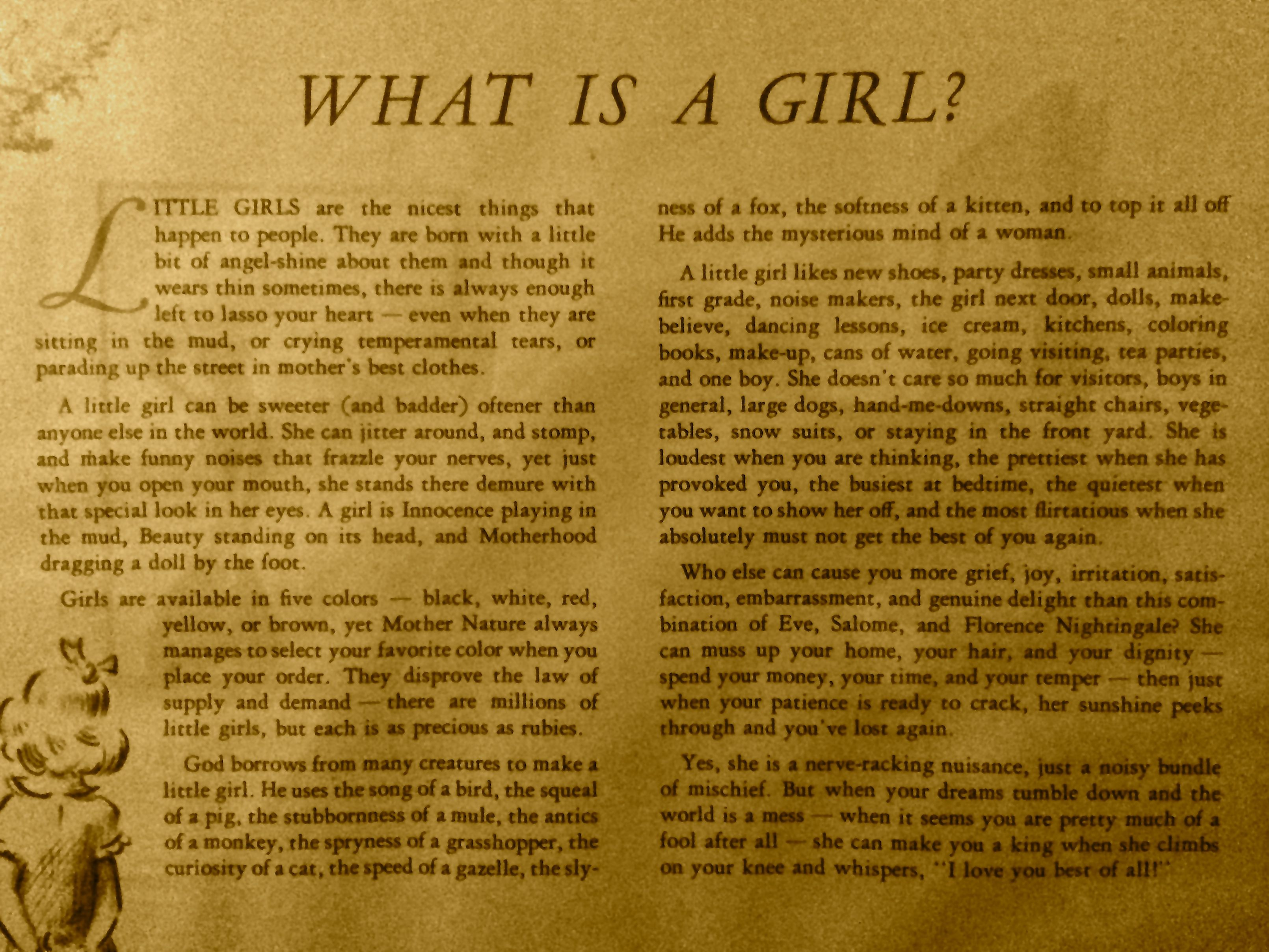 What is a Girl?