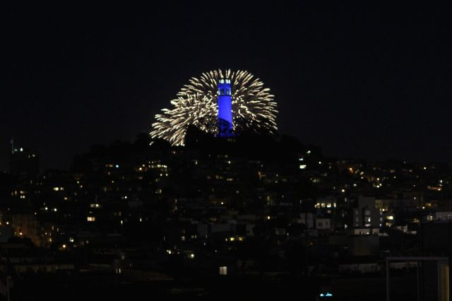 fireworks coit tower